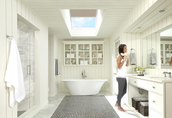Bathroom Remodel with Skylight